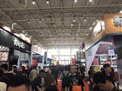 展会现场人流量巨大-北京加盟展